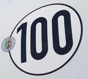 100 km/h-Schild